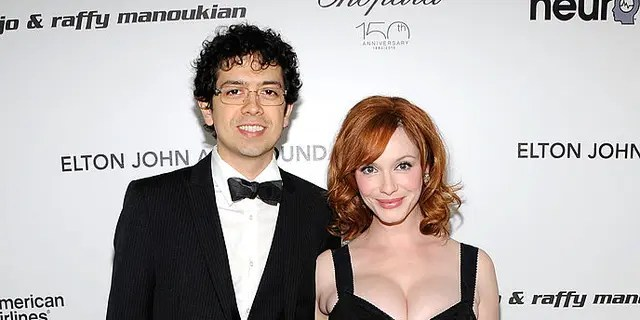 Actor Geoffrey Arend and Christina Hendricks got married in 2009. (Photo by Larry Busacca/Getty Images)
