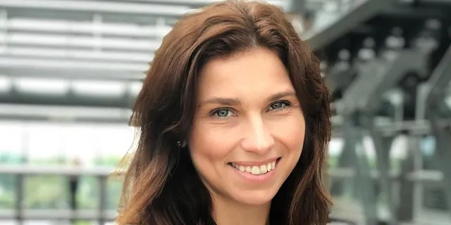 Katarzyna Richter, pictured, was fired from her job with LOT Polish Airlinesafter recently