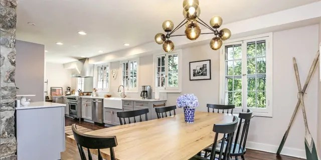 Built in 1932, the two-story, 1,922-square-foot Colonial house has 35 windows.