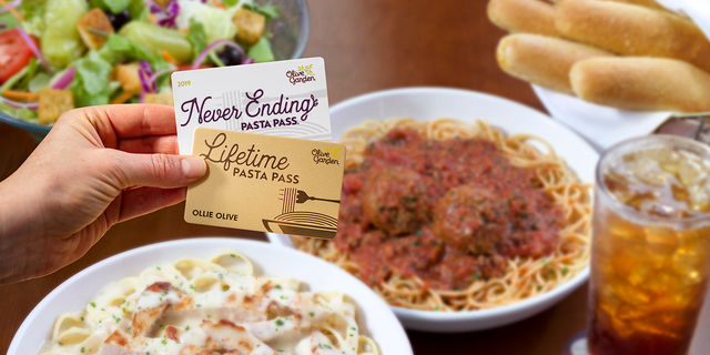 The Lifetime Pasta Passes — which are available to the first 50 people lucky enough to snag a Pasta Pass on Aug. 15 — will entitle the lucky recipients to unlimited pasta, soup, salad and breadsticks for their entire lifetimes.