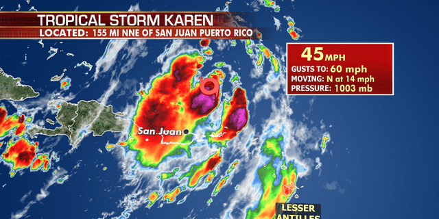 Tropical Storm Karen has moved past Puerto Rico, but is still bringing heavy rain.