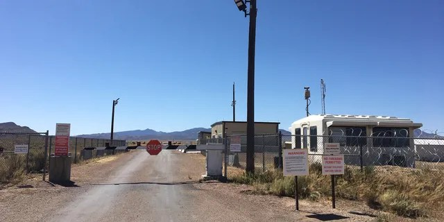 """The so-called """"Back Entrance"""" to Area 51, located off a dirt road in Rachel, Nev. as seen on Sept. 18, 2019."""