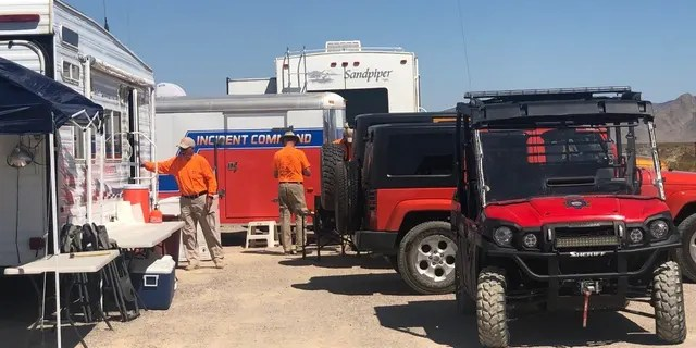 "Emergency crews staging in Nye County, Nevada ahead of possible ""Storm Area 51"" events."