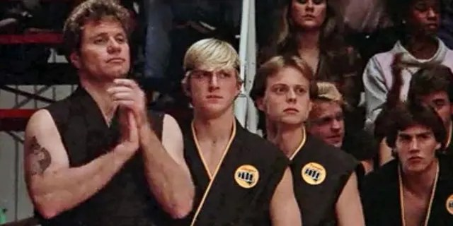 """""""Karate Kid"""" actor Robert Garrison, center, died Friday at age 59, according to reports."""