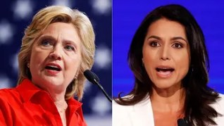 Image result for Gabbard & Hillary Clinton