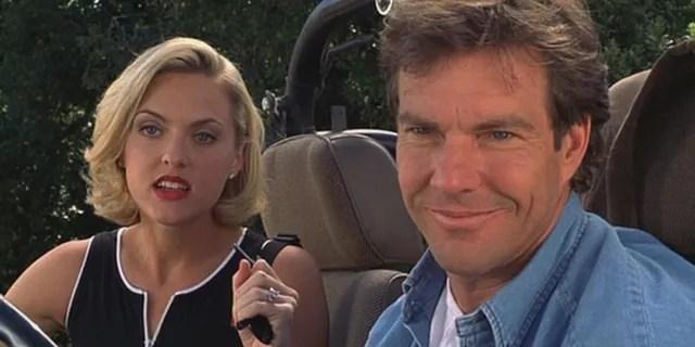 Dennis Quaid and Elaine Hendrix in 'The Parent Trap' (1998).