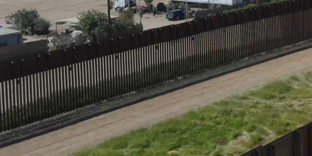 The two barriers in San Diego sector