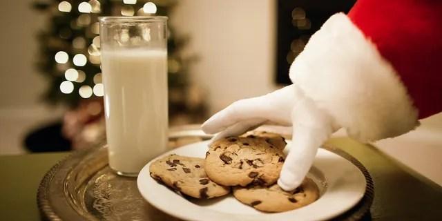 Santa will eat 300 million cookies alone.