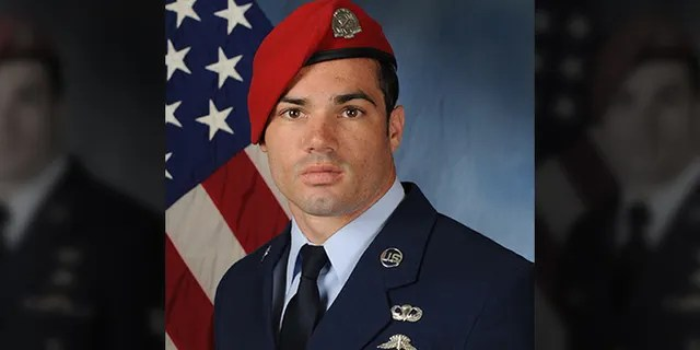 U.S. Air Force Staff Sgt. Cole Condiff, 29, fell into the Gulf of Mexico during a parachute-jump training exercise out of Hurlburt Field, Fla., investigators said. (U.S. Air Force)