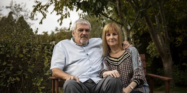 Shirley and her husband, Bob, at their home in Bristol. (SWNS)