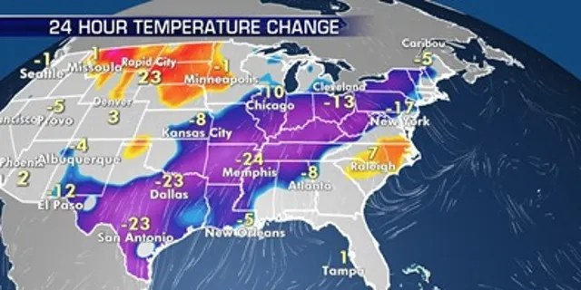 """A powerful Arctic Surge is expected to hand most of the U.S. with record-breaking cold temperatures early next week.<br data-cke-eol=""""1"""" data-recalc-dims="""