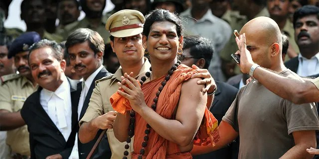 Controversial Hindu Godman Swami Nityananda is wanted in India for a series of assault and sexual abuse charges (AFP / Manjunath Kiran)