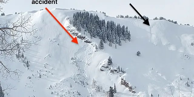 The site of the deadly avalanche on Sunday, which happened two days after another slide.