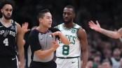 Beer toss at Celtics-Spurs game after Kemba Walker ejection gets fan arrested, report says