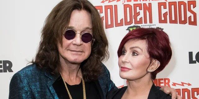 Ozzy Osbourne and his wife Sharon Osbourne at the Metal Hammer Golden God awards in London