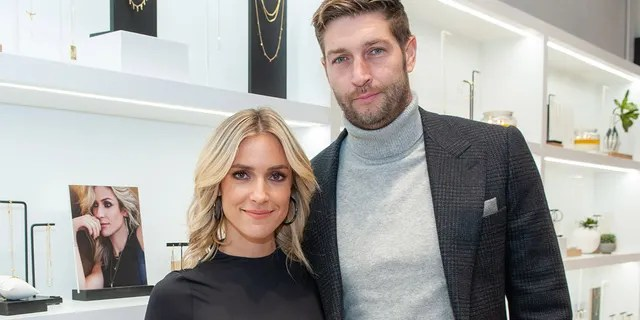 Kristin Cavallari and Jay Cutler attend the Uncommon James VIP Grand Opening at Uncommon James on October 25, 2019 in Chicago, Illinois.