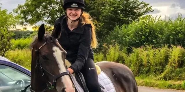 Laura Skerritt on her horse.