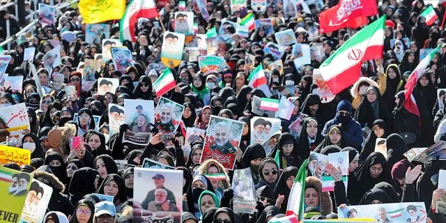 Iranians attend an annual rally at Azadi (Freedom) Square celebrating 41st anniversary of Islamic Revolution, in Tehran, Iran, Tuesday, Feb. 11, 2020. (AP Photo/Ebrahim Noroozi)