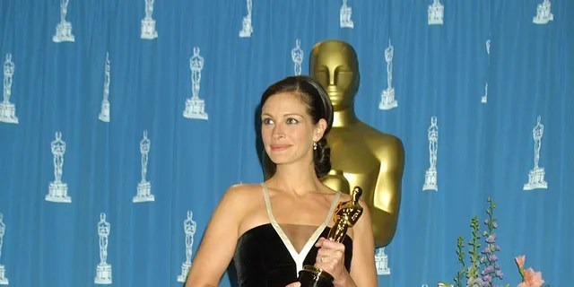"2001: Julia Roberts winning best actress for her role in ""Erin Brockovich"""