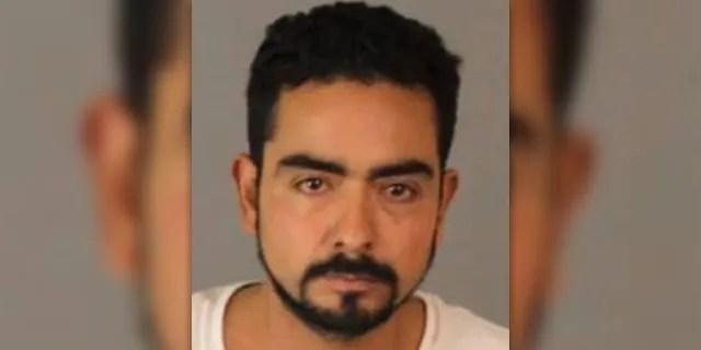 The Riverside County Sheriff's Office identified Jose Luis Torres Garcia, 33, (pictured) as the suspect behind thekilling of Jaime Covarrubias Espindola, 50, Jose Maria Aguilar-Espejel, 38, and Rodrigo Aguilar-Espejel, 28.