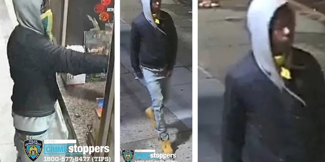 An NYPD detective told Fox News that the suspect (pictured here) demanded money from the 28-year-old male worker and then fired one shot, hitting the employee above his right eyebrow.