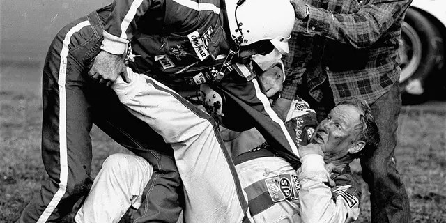 Bobby Allison and Cale Yarborough fought on and off the track at the 1979 race.