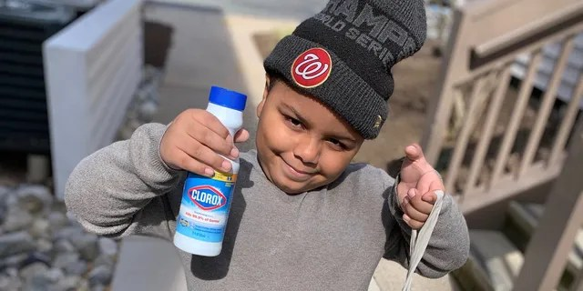 Cavanaugh Bell, 7, of Gaithersburg, Maryland is helping others out of his own savings during the coronavirus outbreak.