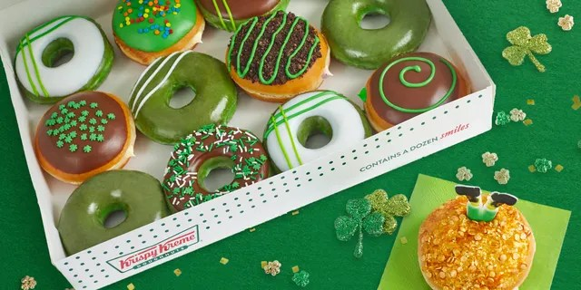 """Do you love doughnuts? Leprechauns sure do. They turned all our doughnuts GREEN,"" said Dave Skena, the chief marketing officer for Krispy Kreme."