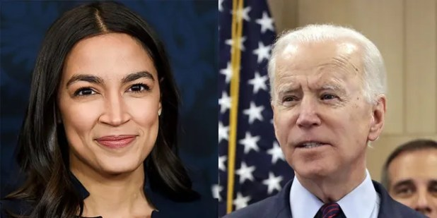 U.S.  Rep.  Alexandria Ocasio-Cortez initially did not support Biden for president, but she has since backed her fellow Democrats.
