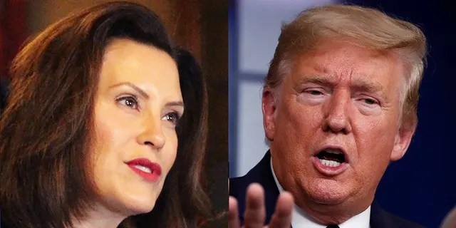 The coronavirus outbreak has sparked tension between Michigan Gov. Gretchen Whitmer and President Trump.