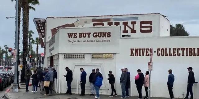 Gun store in Culver City, CA on Saturday.