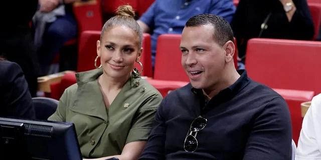 Jennifer Lopez (left) and Alex Rodriguez postponed their wedding in June because of the coronavirus.