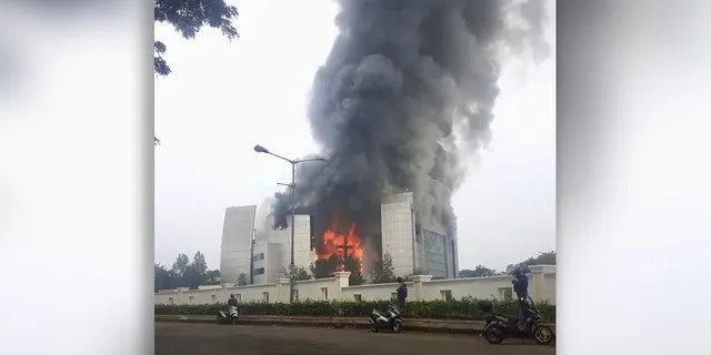 Christ Cathedral Indonesia outside Jakarta, where an Easter bombing plot by Islamic terrorists was thwarted, was engulfed in flames Monday morning.