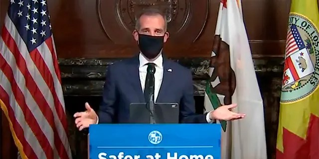 Los Angeles Mayor Eric Garcetti said Monday that more restrictions on public and business activity could happen if there is a spike in coronavirus cases.