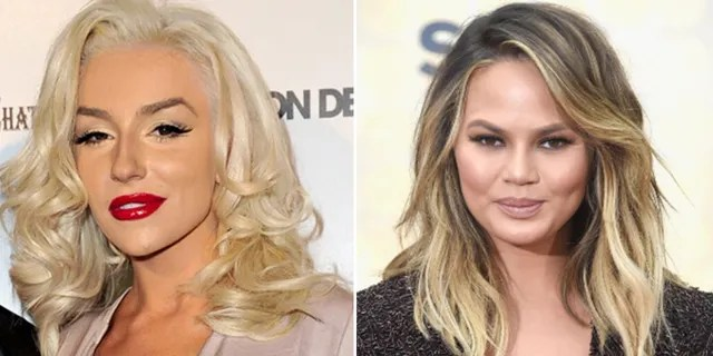 Chrissy Teigen (right) has been accused of cyberbullying a number of celebrities, including Courtney Stodden (left).