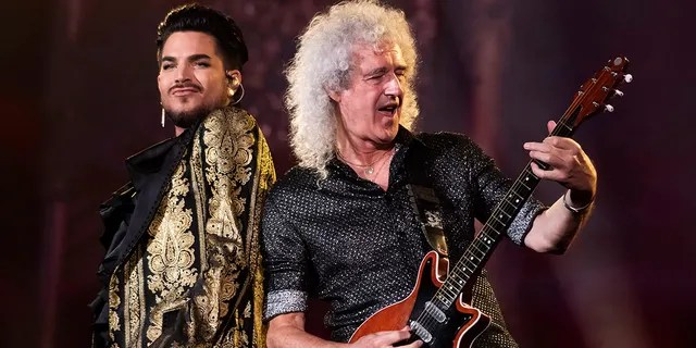 Adam Lambert, left, and Brian May, of Queen, perform at the Global Citizen Festival in New York. Lambert and May, along with their teammate Roger Taylor, recently met virtually to record a new version of the Queen's classic,