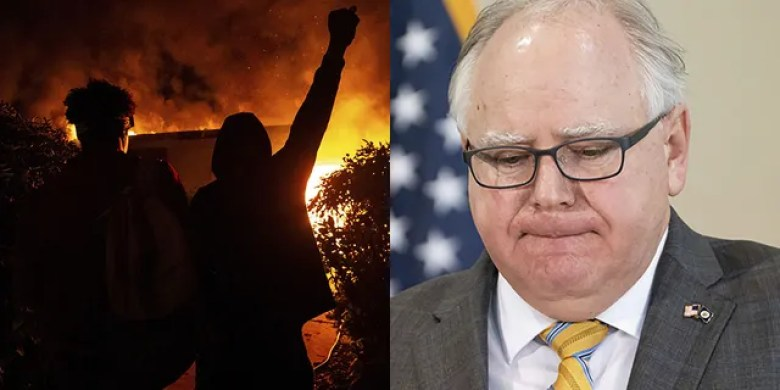 Minnesota Gov. Tim Walz addresses reporters as the Minneapolis-St. Paul region deals with continued rioting following the death of George Floyd.