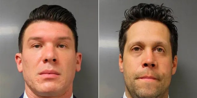 Buffalo, N.Y., police officers Robert McCabe, left, and Aaron Torgalski. (Erie County District Attorney's Office via AP)