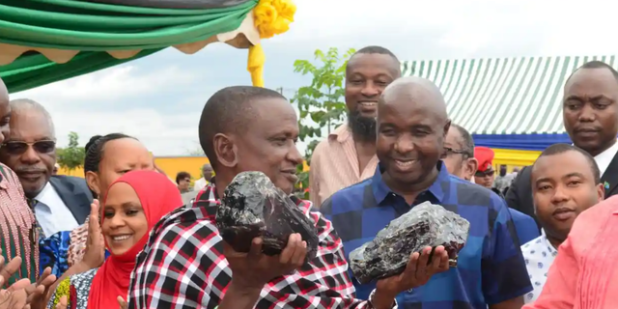 Saniniu Laizer, 52, sold two rough Tanzanite stones, which are said to be the largest ever found in the country.