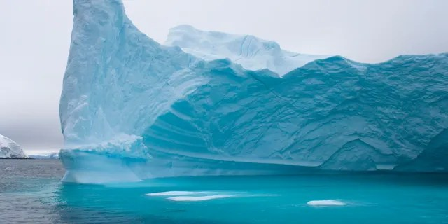 Iceberg floating off the western Antarctic peninsula, Antarctica, Southern Ocean.