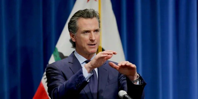 May 14, 2020: California Gov. Gavin Newsom discusses his revised 2020-2021 state budget during a news conference in Sacramento, Calif. (AP Photo/Rich Pedroncelli, Pool)