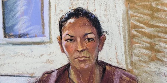 Ghislaine Maxwell appears via video link during her arraignment hearing where she was denied bail for her role aiding Jeffrey Epstein to recruit and eventually abuse of minor girls, in Manhattan Federal Court, in the Manhattan borough of New York City, New York, U.S. July 14, 2020 in this courtroom sketch. (REUTERS/Jane Rosenberg)
