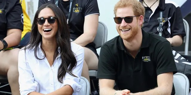 Prince Harry and Meghan Markle during the Invictus Games 2017 at Nathan Philips Square on September 25, 2017 in Toronto, Canada