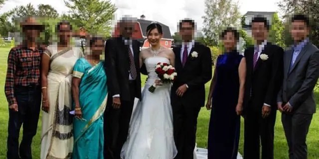 Photo of Dr. Li-Meng Yan at her wedding. (Yan)