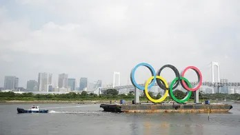 Olympic rings in Tokyo Bay removed for 'maintenance'