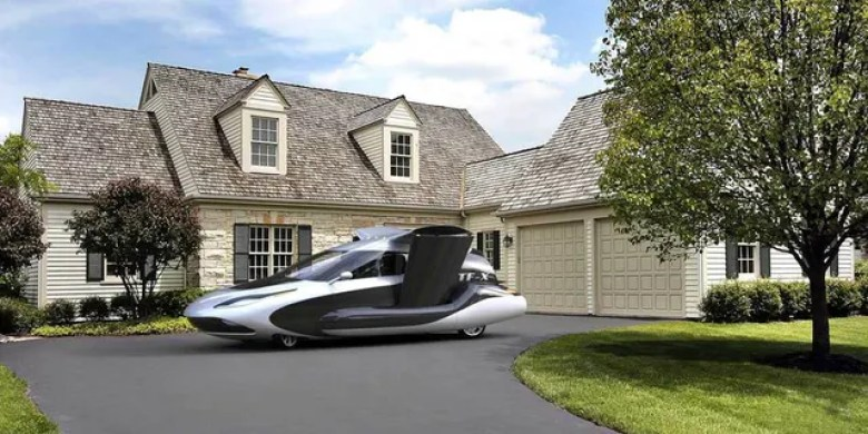 The Terrafugia TF-X is designed to fit in a single-car garage.