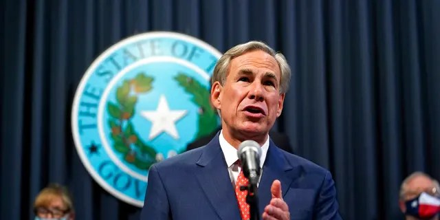 Texas Governor Greg Abbott speaks at a press conference where he provided an update on Texas' response to COVID-19, Thursday, September 17, 2020, in Austin, Texas.  (AP Photo / Eric Gay)