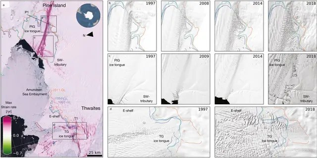 Damage evolution in Amundsen Sea Embayment. (Photo credit: PNAS research article,