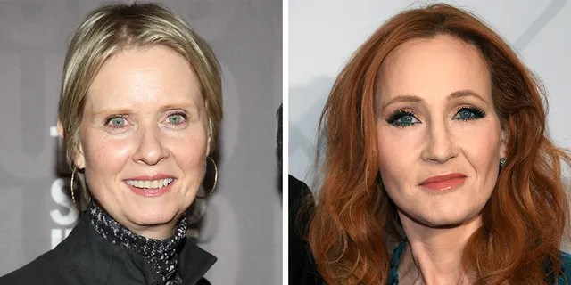 Cynthia Nixon said that J.K. Rowling's comments on transgender identity were 'really painful' for her transgender son, who was a fan of the 'Harry Potter' books.