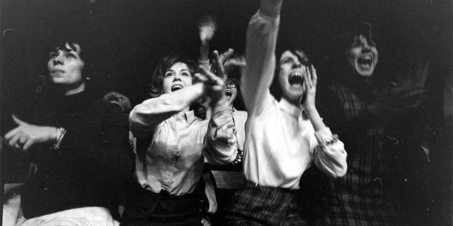Fans at the first Beatles concert in America.
